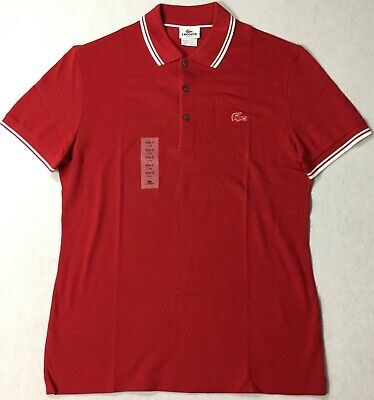 Lacoste Men Slim Fit Polo PH8256 Red Size 8 / 3XL