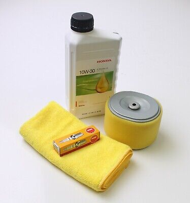 Honda GX240, GX270 service kit. Air filter, NGK BPR6ES plug, Honda oil & cloth