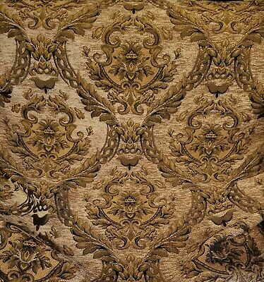 Damask Decorations (Chenille Renaissance damask  Decor Upholstery light gold Sold By  Yard 58