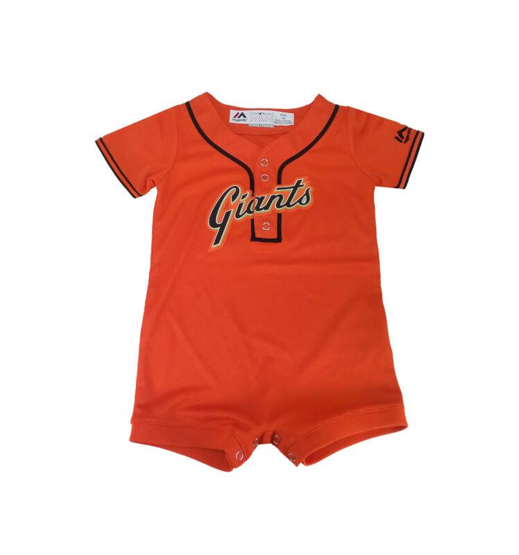 Majestic Infants Toddlers Babies San Francisco Giants Romper Jersey Orange Black