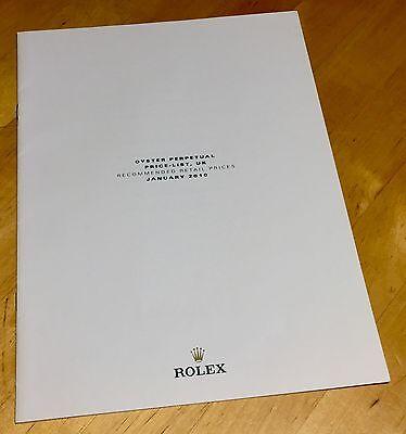 ROLEX Price List 2010 UK 116400 114270 16570 14060 16610 116660 116710 116520