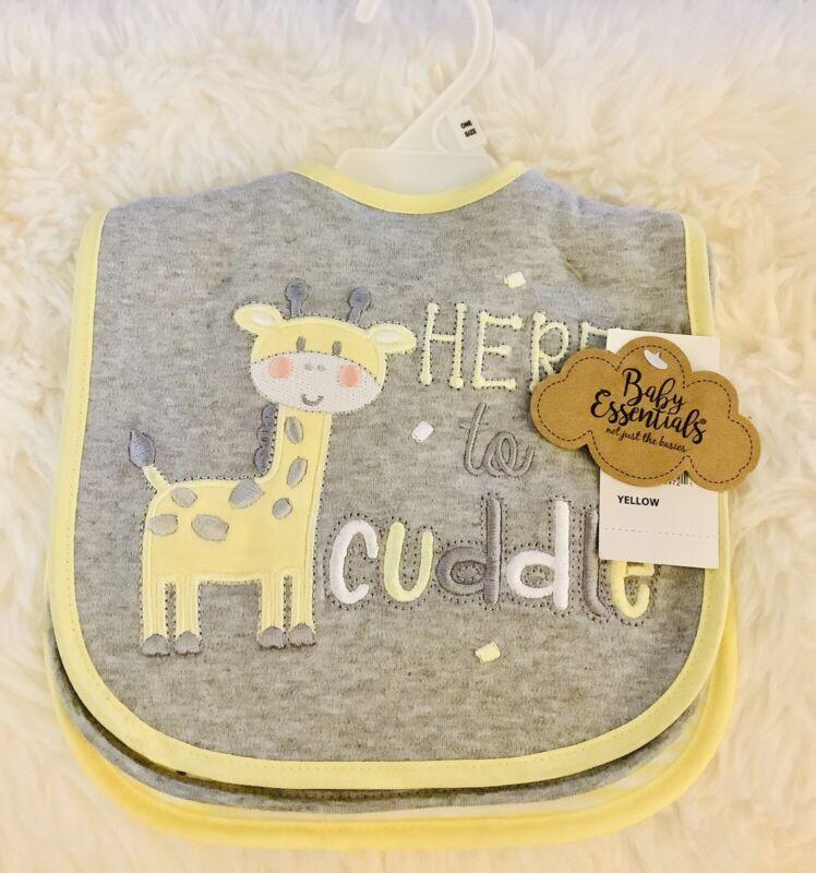 Baby Essentials 3 Pack Bibs Assorted