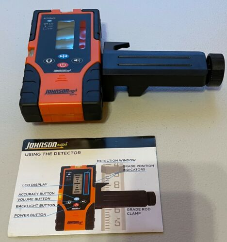 Johnson Level & Tool 40-6715 Two-Sided Laser Detector with Clamp Orange
