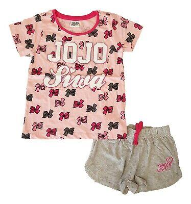 JOJO SIWA Bows Girls Pyjamas PJs PJ Set Short Sleeve/Shorts Summer Kids Cotton