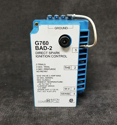 ~Discount HVAC~ JC-G760BAD2C - Johnson Controls - Direct Spark Ignition Control Direct Spark Ignition Control