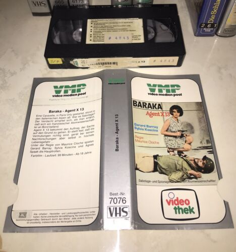 Baraka Agent X 13 VMP Glasbox VHS Rarität