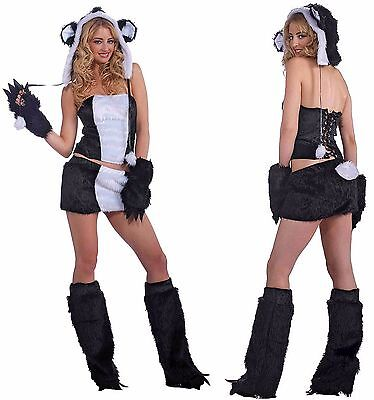 SEXY FURRY PANDA BEAR HALLOWEEN COSTUME WOMEN'S SIZE M/L 8 - 12](Womens Panda Bear Halloween Costume)