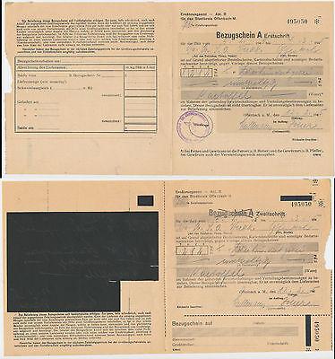 Offenbach  Hessen  Speisekartoffeln Lebensmittelkarte  Lebensmittelmarken  1945
