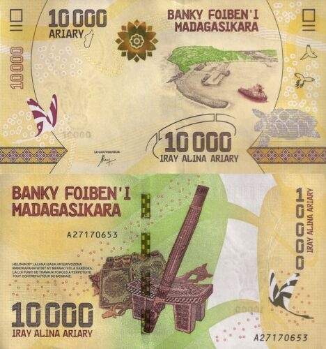Madagascar 10000 Ariary (ND/2017) - Traditional Items/Port Scene/p103 UNC