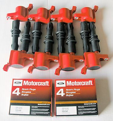 2005 FORD F150 5.4L 8+IGNITION COILS HEAVY DUTY RED +8 MOTORCRAFT SP546 (Ford F150 Ignition)
