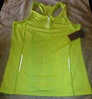 Ladies Pia Fitness Top Flourescent Yellow Size Large (14)new - n - ebay.co.uk