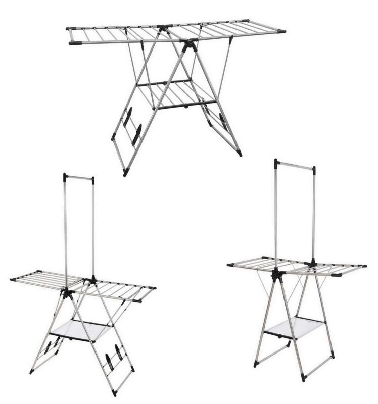 Large Stainless Steel Laundry Clothes Drying Rack Clothesline Indoor Outdoor