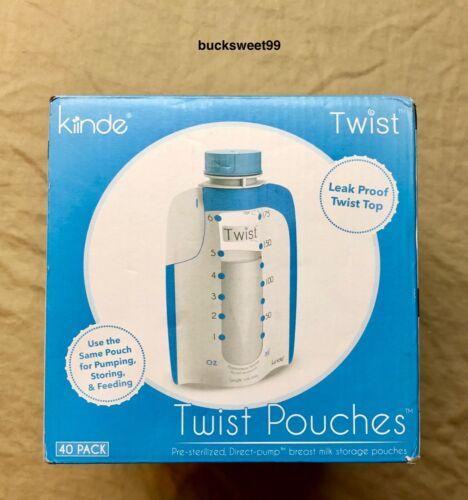 Kiiinde Twist Pouches - 6 oz size - 40 Pouches - SEALED/ DAMAGED BOX