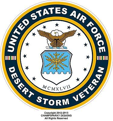 UNITED STATES Air Force Desert Storm Veteran  Decal Window Bumper Sticker