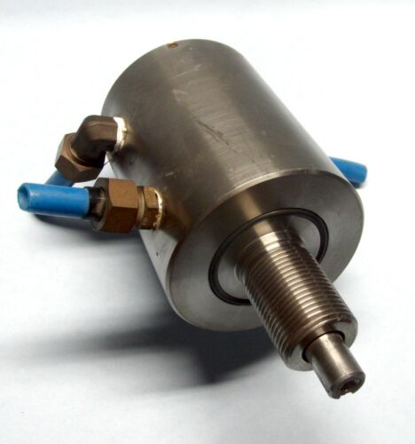 "Ferrofluidics 51-121976A 1/2"" Rotary Baseplate Vacuum Feedthrough Water Cooled"