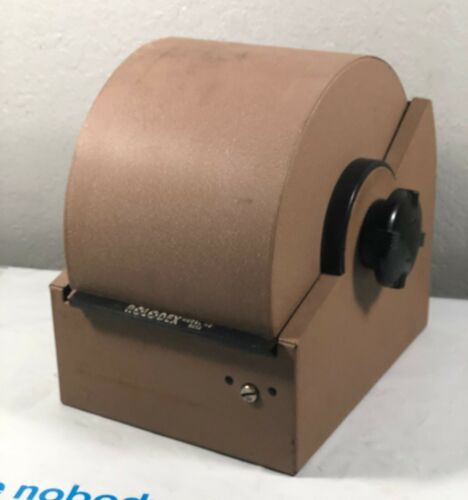Vintage Rolodex 5350 Metal Roll Top Rotary Card Desk File