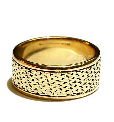 14K yellow gold 8.25mm wedding band ring 6.6g estate gents ladies 14k Gents Wedding Band
