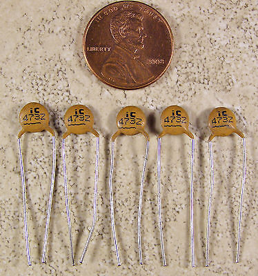 5 IC .047uf 50V Ceramic Capacitors NOS Guitar Tone on Rummage