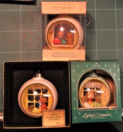 3 Hallmark 1980 1981 1984 Window Christmas Ball Ornaments 1 Helen Steiner Rice