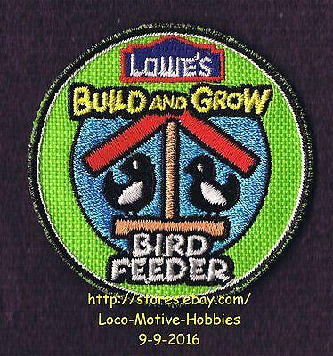 LMH PATCH Badge  2010 BIRD FEEDER Food Birdfood  LOWES Build Grow Kids Clinic