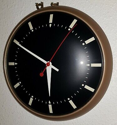 Large Rare Smiths Modernist Mid Century Mains Industrial/Office? Wall Clock