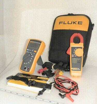 Fluke 116 323 Kit Hvac  True Rms Multimeter Clamp Meter Case Leads Probes