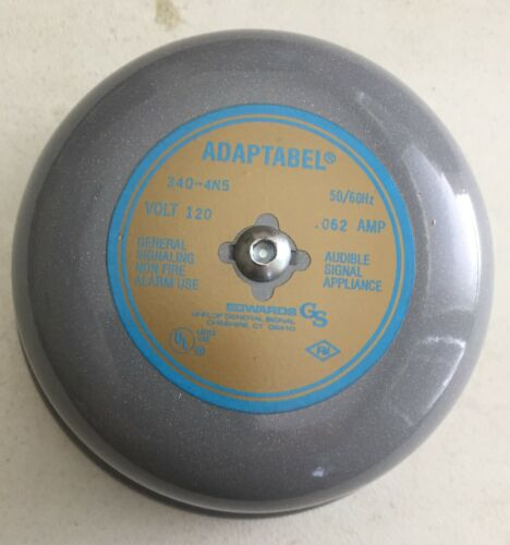 """EDWARDS CO 340-4N5 4"""" ADAPTABEL AC VIBRATING BELL, 115 VOLTS, 60 CYCLES, .062 A"""