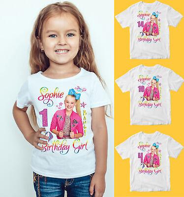 JOJO Siwa Personalised Your Name Happy Birthday Kids Birthday Funny T-Shirt