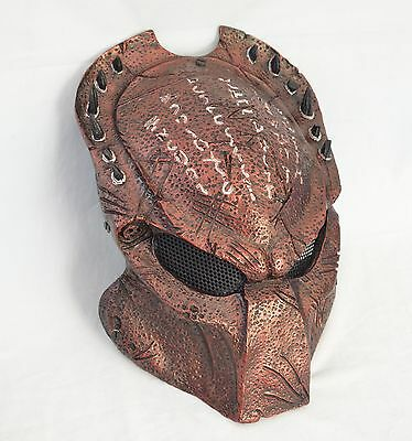 pretty nice 63101 a603f NEW Red Paintball Full Wire Mesh Protection AVP Predator Mask Halloween  M0148