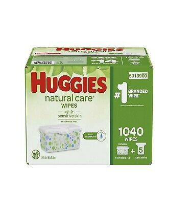 Huggies Natural Care Baby Wipe Refill, Fragrance Free (1,040 (Baby Natural)