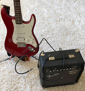 Fender Squier Stratocaster and  Fender Bullet Amplifier Package