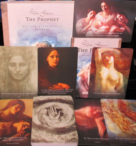 NEW ~ OPEN FOR PHOTOS ~ KAHIL GIBRAN THE PROPHET ORACLE CARDS & BOOK & JOURNAL