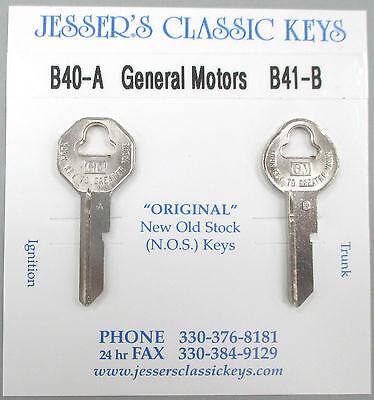 Original 1967 Cadillac GM Keys B40-A B41-B NOS Key Set '67 Caddy