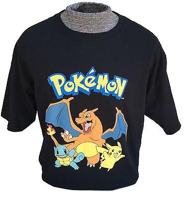 POKEMON GO Starter Shirt Pikachu Charizard Squirtle T-Shirt Tee Top Black S M - Pikachu T Shirt
