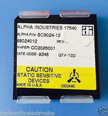 Sc9024-12 Alpha Industries Capacitor Chip Rf Microwave Product 100units Total