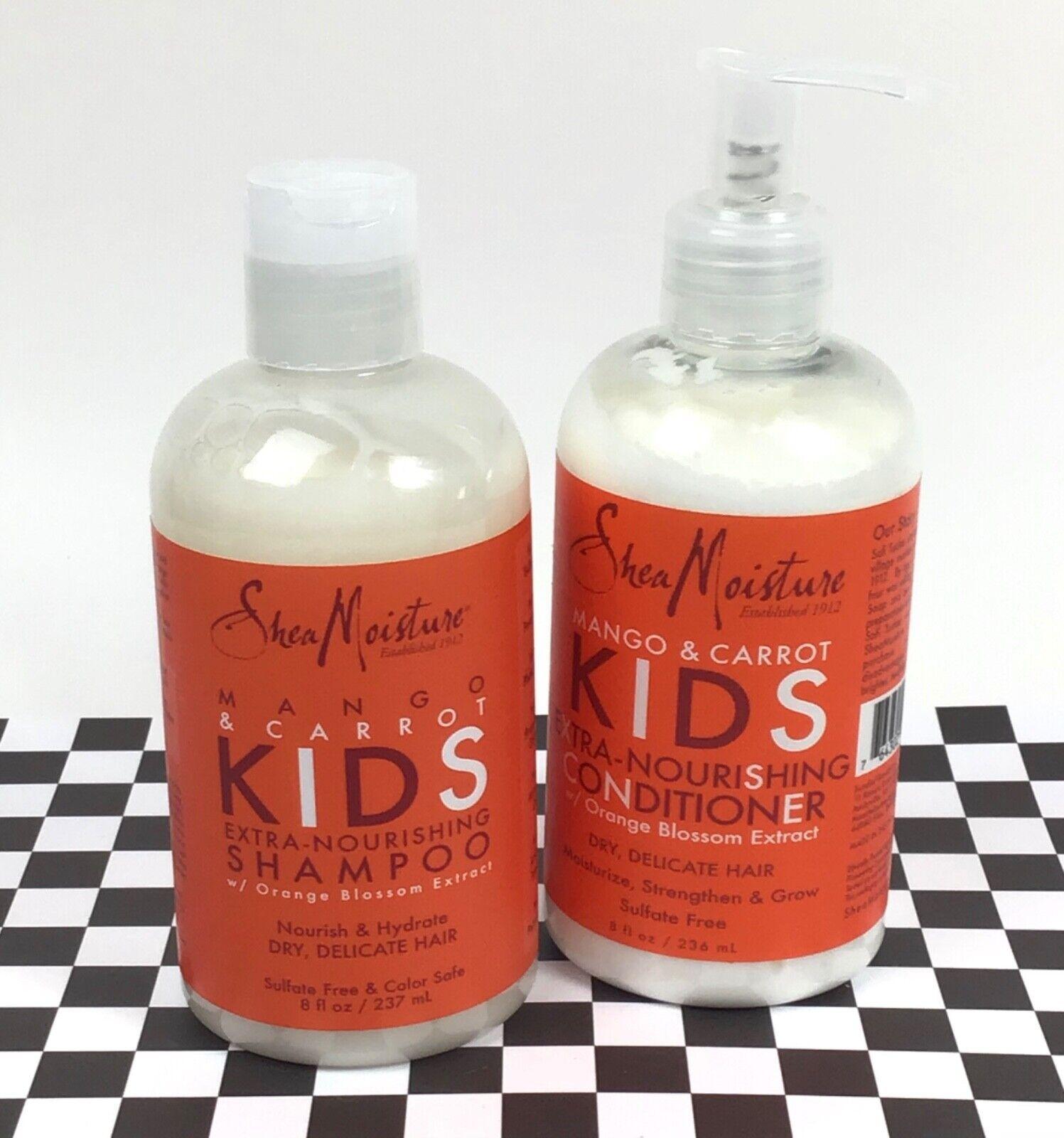 SheaMoisture Mango & Carrot Kids Extra-Nourishing Shampoo, 8