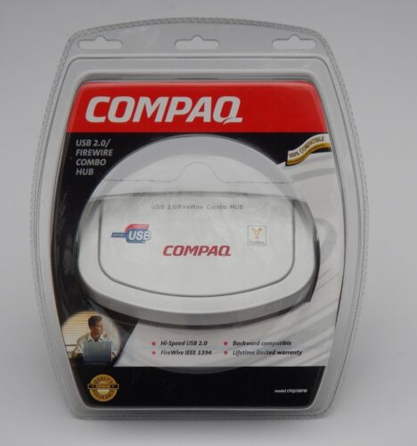 Compaq USB 2.0 FireWire IEEE 1394 Combo Hub CPQUSBFW Windows XP 2000 New Sealed