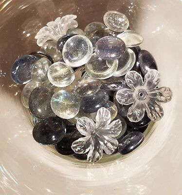 Glass Beads For Vases (DECORATIVE GLASS BEADS FOR VASES, CRAFTS, WEDDINGS -)