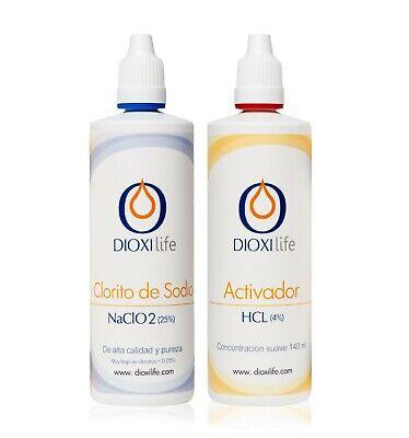 Dioxilife ® ➤ CLORITO DE SODIO + ACTIVADOR 140 ml ➤ Precursor...