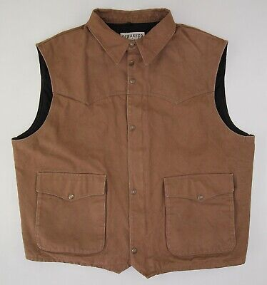 Schaefer western duck canvas vest XXL USA brown
