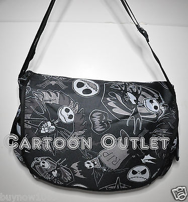 NIGHTMARE BEFORE CHRISTMAS JACK MESSENGER BAG TOTE BACKPACK DISNEY SKELLINGTON B