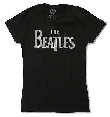 Beatles Classic Logo Girls Juniors T Shirt New Official Apple Merch Beatles Ladies T-shirt
