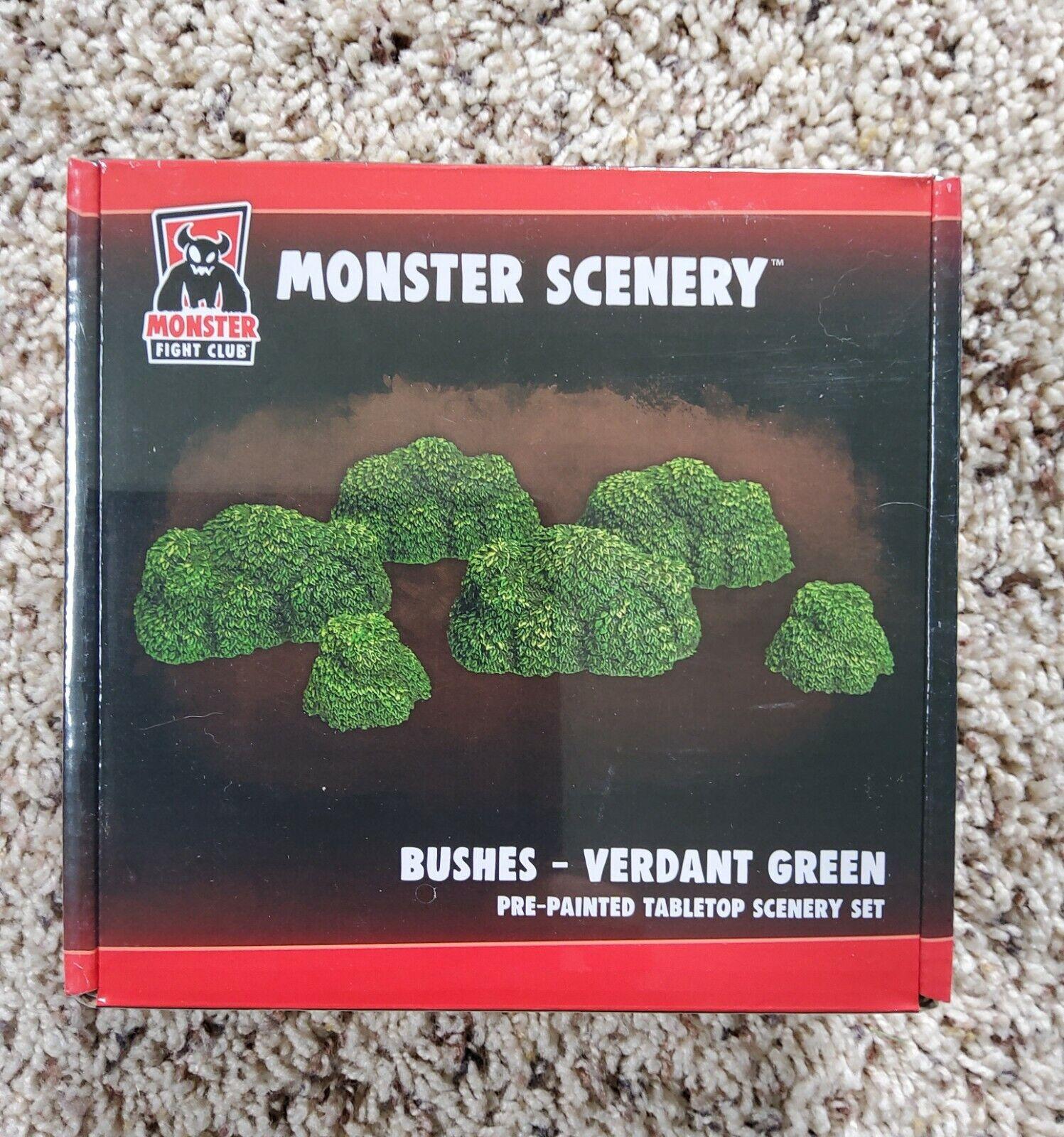 Monster Scenery- Bushes Verdant Green - Monster Fight Club - NEW UNOPENED