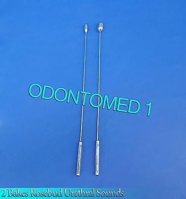 2 Pcs Bakes Rosebud Urethral Sounds 8mm13mm