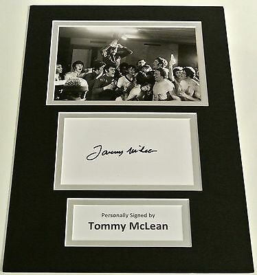 Tommy McLean SIGNED autograph A4 Photo Mount Display Glasgow Rangers & COA