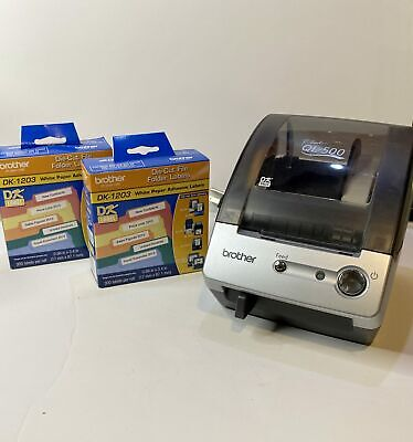Brother P-touch Ql-500 Thermal Transfer Label Printer With 3 Rolls Of Labels
