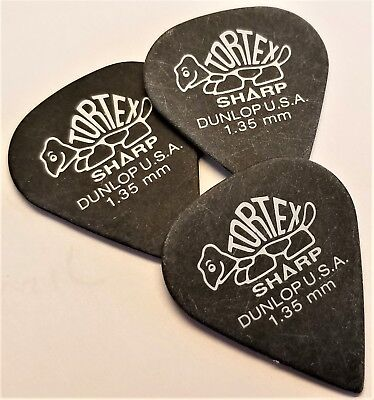 Jim Dunlop Tortex Sharp Guitar Picks 1.5 mm  3 Pack for sale  Shipping to India