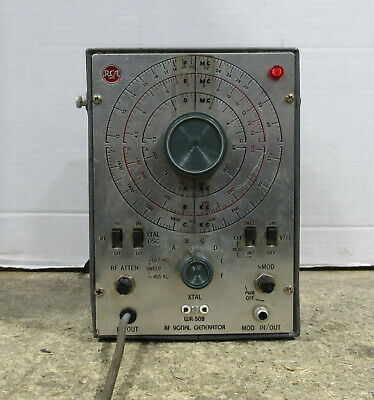Rca Manufacturing Model Wr-50b Metal Rf Signal Generator Tested And Working