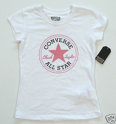 Neu All Star Converse T-Shirt TShirt Kids Kinder Mädchen Girls Logo ()