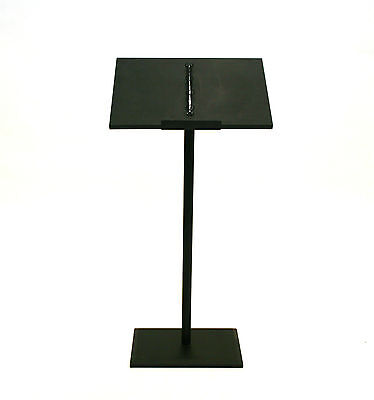 (PO-61 Black Metal lectern, podium, Speaker stand, lecturn, Stage Stand)